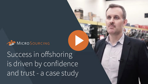 Success in offshoring is driven by confidence and trust - a case study