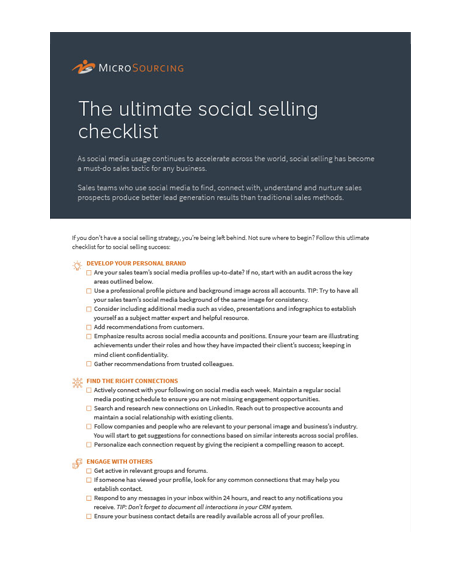 The ultimate social selling checklist